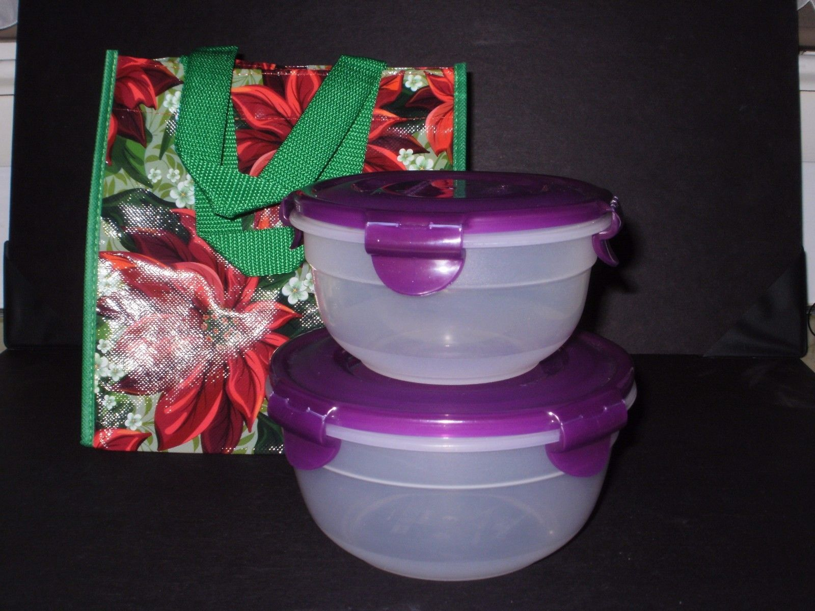Lock & Lock Food Storage Container - 2 piece Nestable w/ LNL Christmas gift bag 1