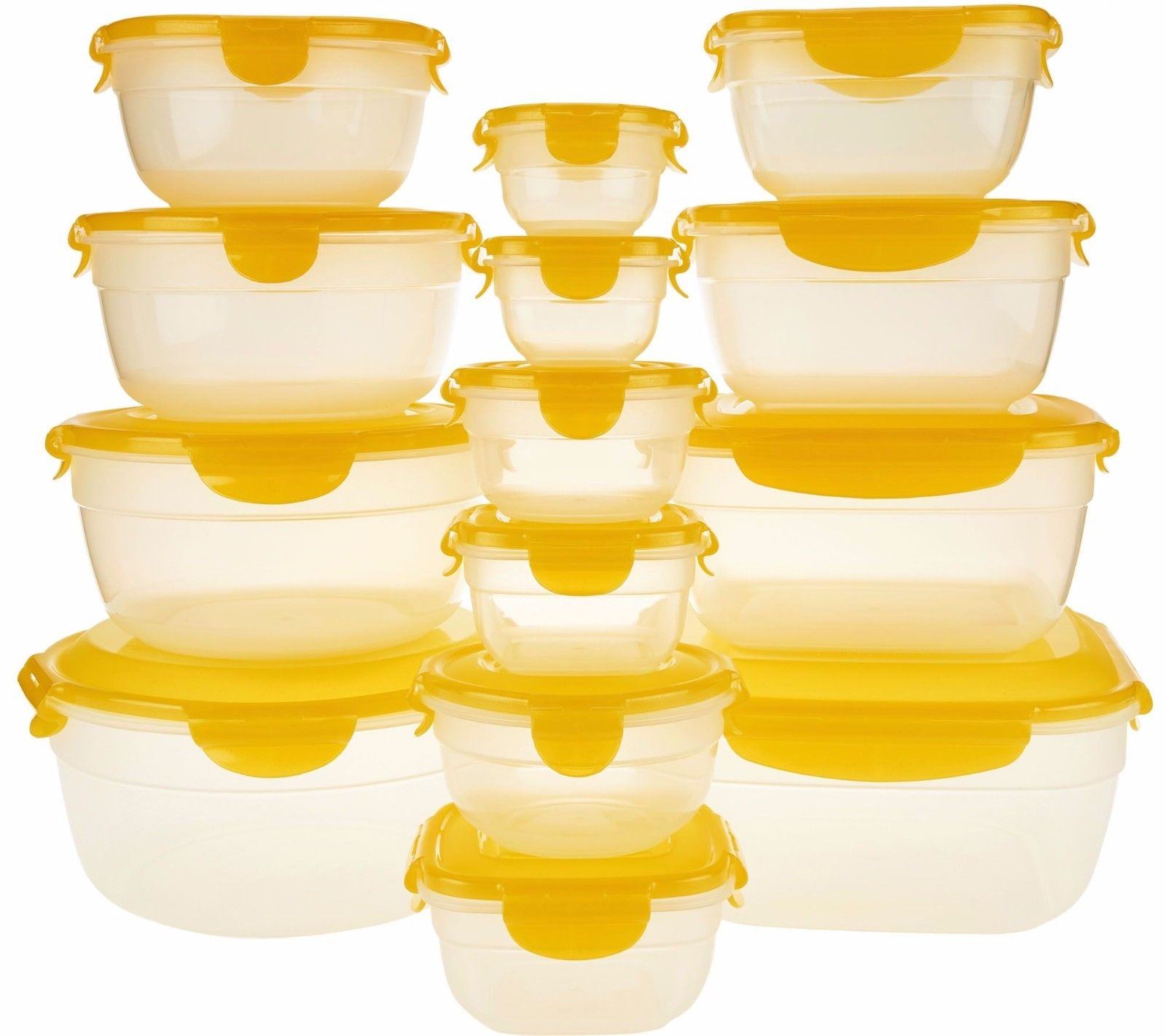 Lock & N Lock Food Storage Containers 14 pc w/ lids 2 w Handles Food Safe K44450 1