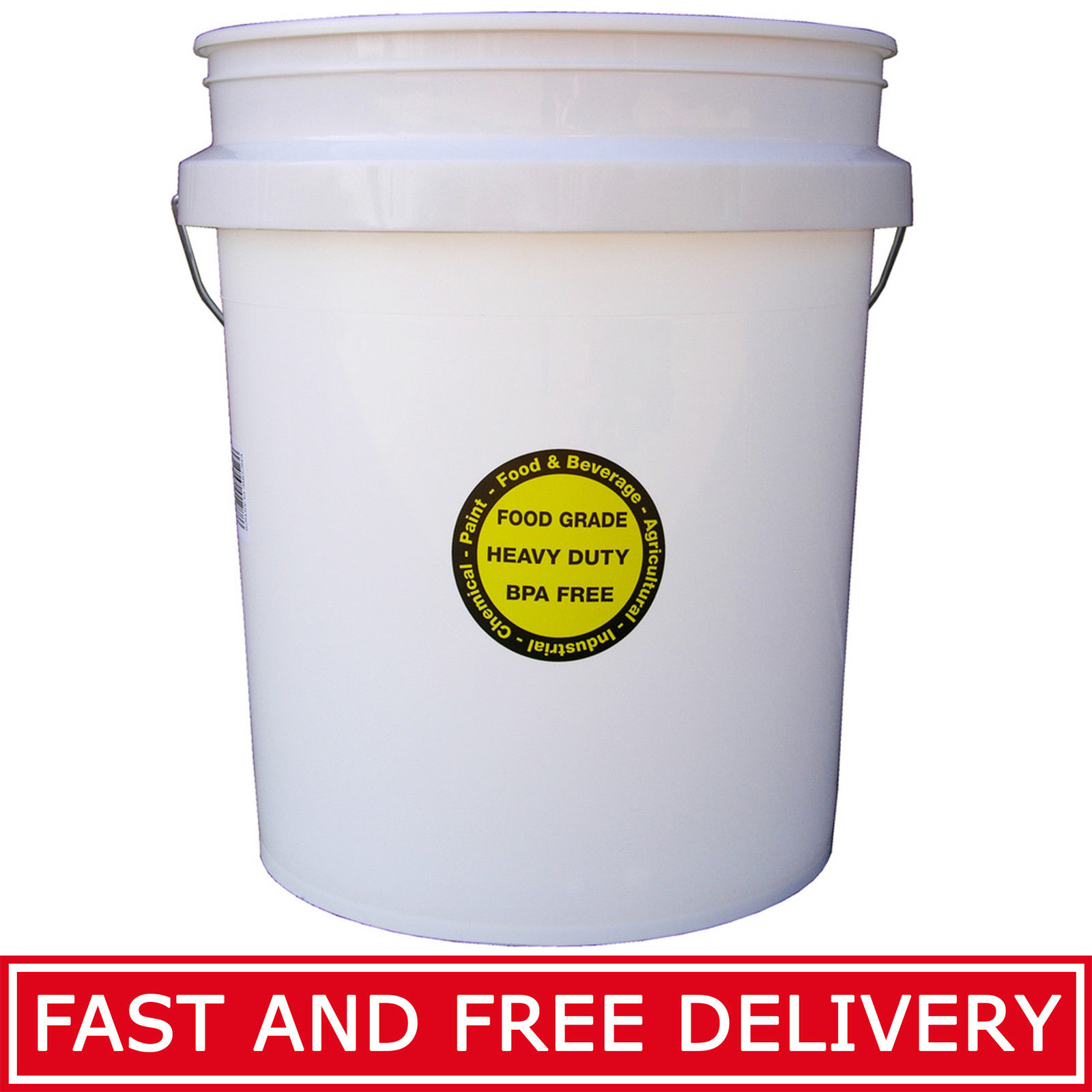 Commercial Food Grade Bucket White Durable Plastic All Purpose Storage Buckets 1