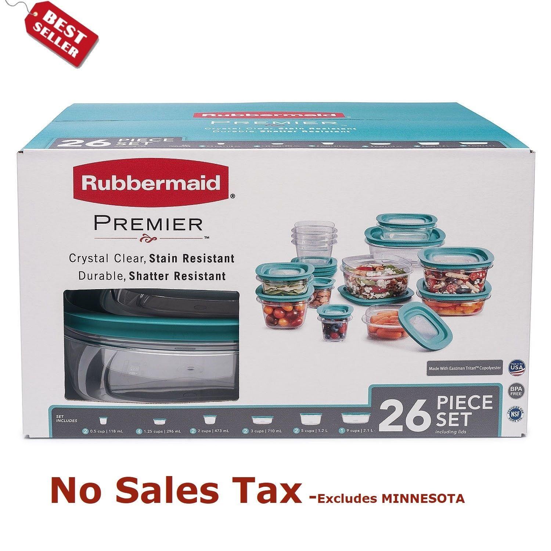 Rubbermaid Premier 26-Piece Food Storage Set Plastic Containers 1