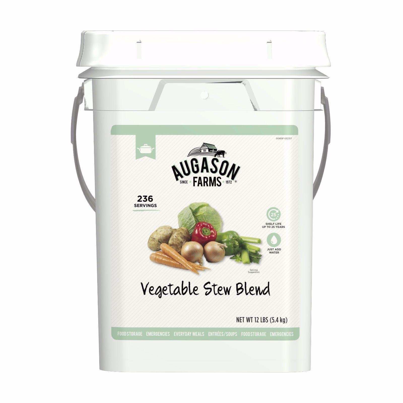 Augason Farms Vegetable Stew Gluten Free Emergency Food Storage 4-Gal Pail 1