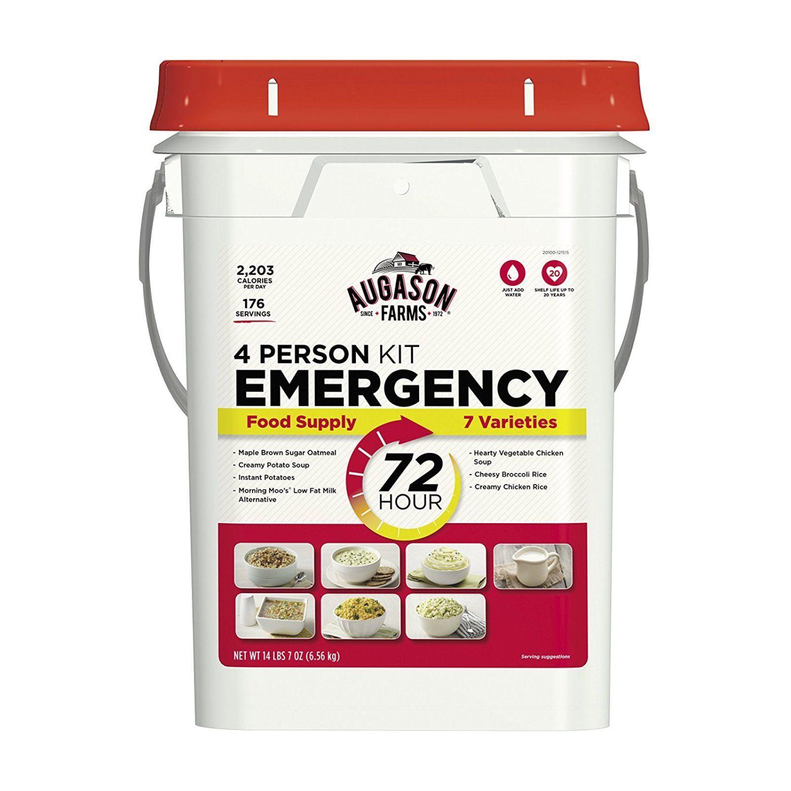 Emergency Food Kit Storage Survival Supply 72-Hour 4-Person  176 Servings Bucket 1