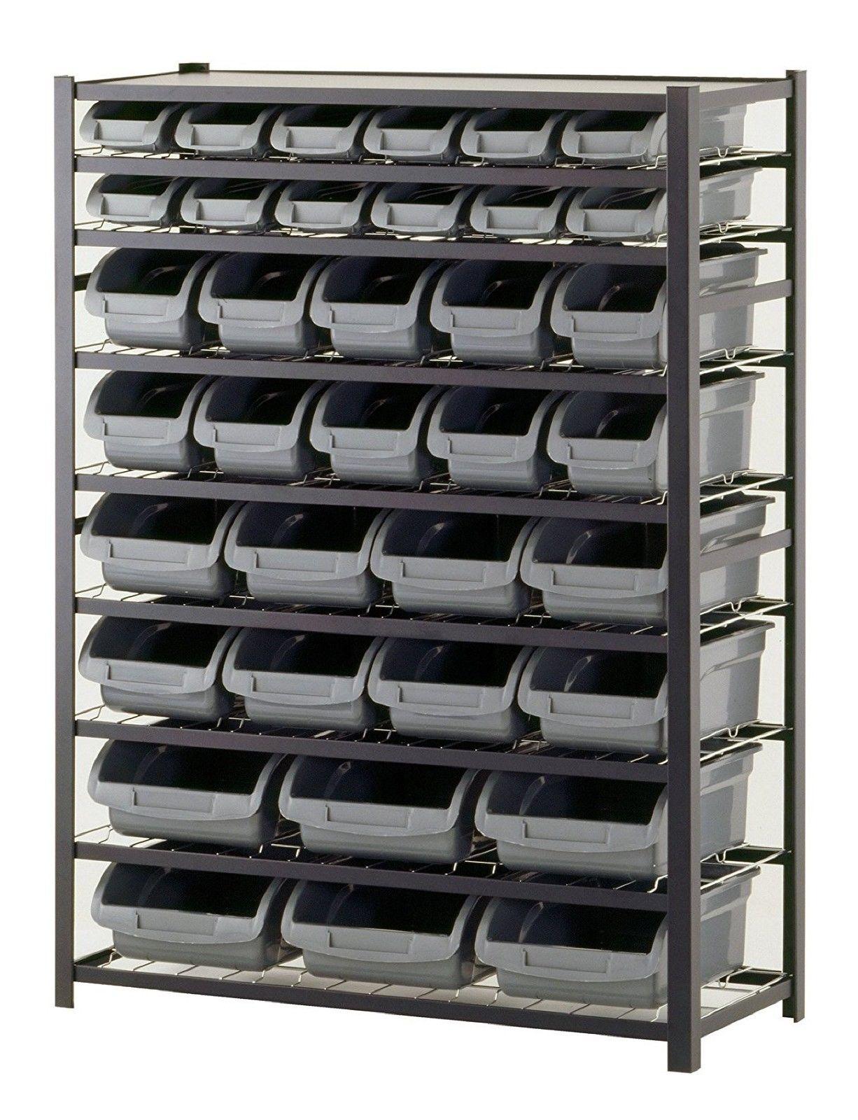 Storage Unit Units Food Dog Food Large Heavy Duty Black Metal Rack Shelf 36 Bin 1