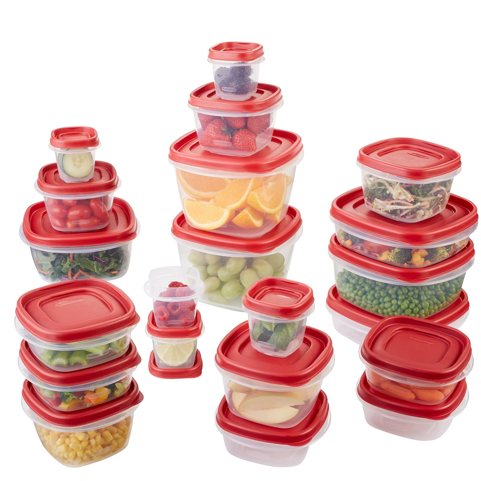 Rubbermaid Easy Find Lid 42-Piece Food Storage Container Set, Red 1