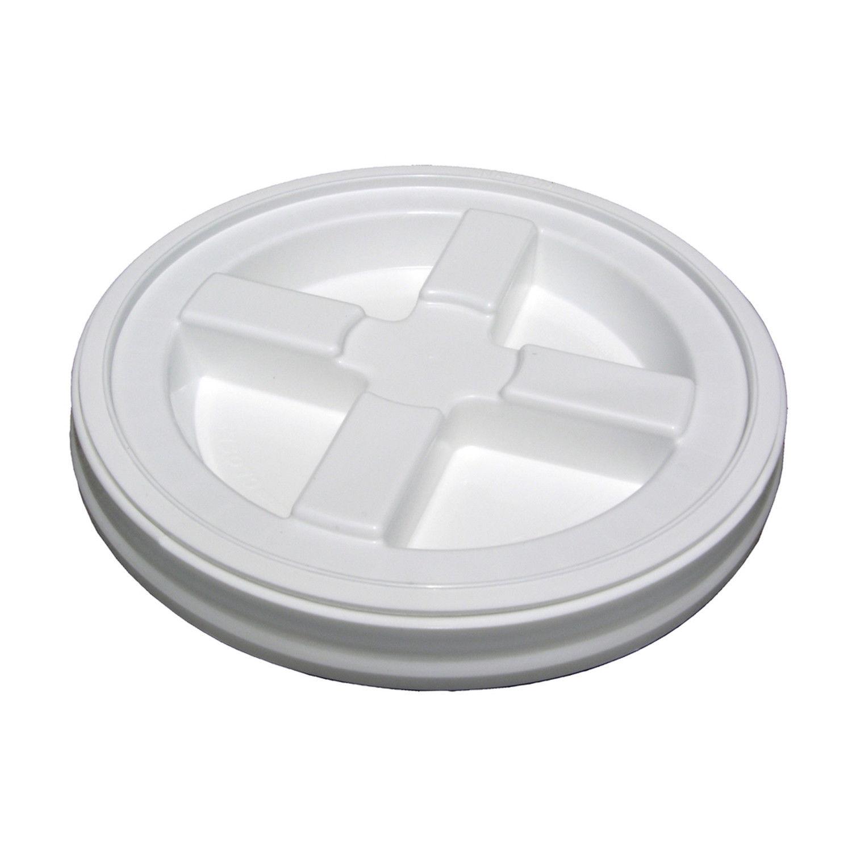 PLASTIC BUCKET LID 12 In Solid Gamma Seal Screw Secure Water Food Storage White 1