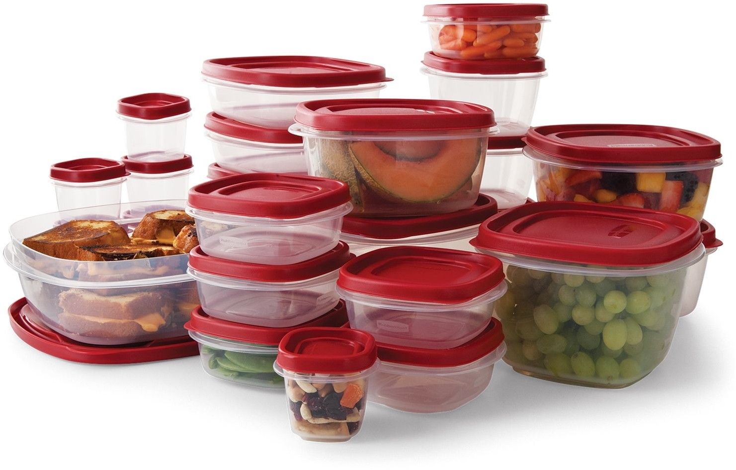 Rubbermaid Plastic Food Storage Containers Easy Find Lid BPA-FREE Set 50 Pc. 1