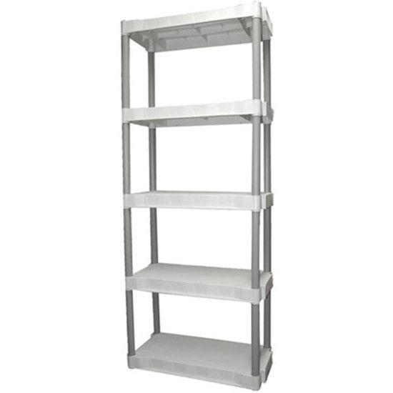 5 Tier Shelving Rack Shelf Plastic Storage Pantry Food New 1