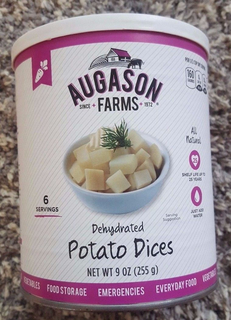 Augason Farms Dehydrated Potato Dices Prepper Emergency Food Storage BUG OUT BAG 1