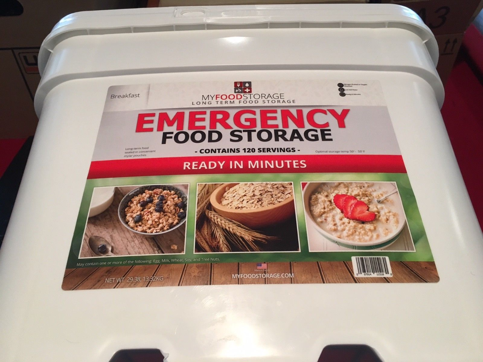 Emergency Food Supply: My Food Storage [brand], Breakfast, 120 Servings 1
