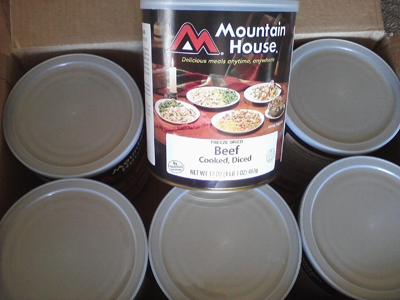Mountain House Freeze Dried Diced Beef. Camp,MRE,Emergency Food Storage #10 can 1