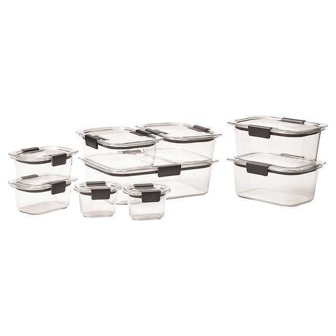 Rubbermaid Brilliance 18-piece Food Storage Set, Stain & Odor Resistant, NO TAX 1