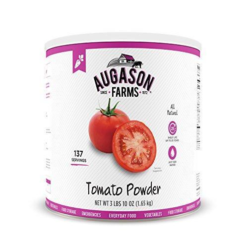 Augason Farms Tomato Powder Emergency Food Storage 3 lbs 10 oz No. 10 Can 1