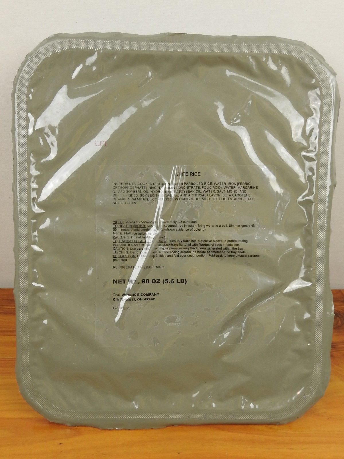 White Rice UGR-A T-Rations MRE Survival Camping Prepper Emergency Food Storage 1