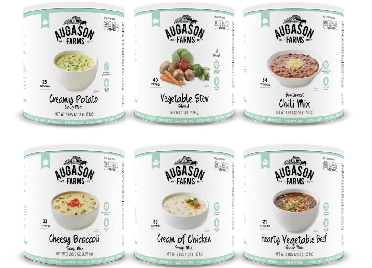 Augason Farms 6 Pack Soup Variety Food Storage Emergency survival potato chicken 1