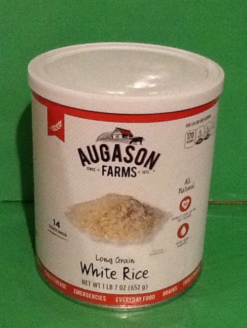 Augason Farms Long Grain White Rice Food Storage Prepper Emergency BUG OUT BAGS 1