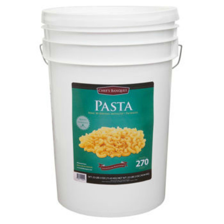 Ready Project Macaroni Pasta Emergency Food Storage 270 serv 6 gallon pail 25 lb 1