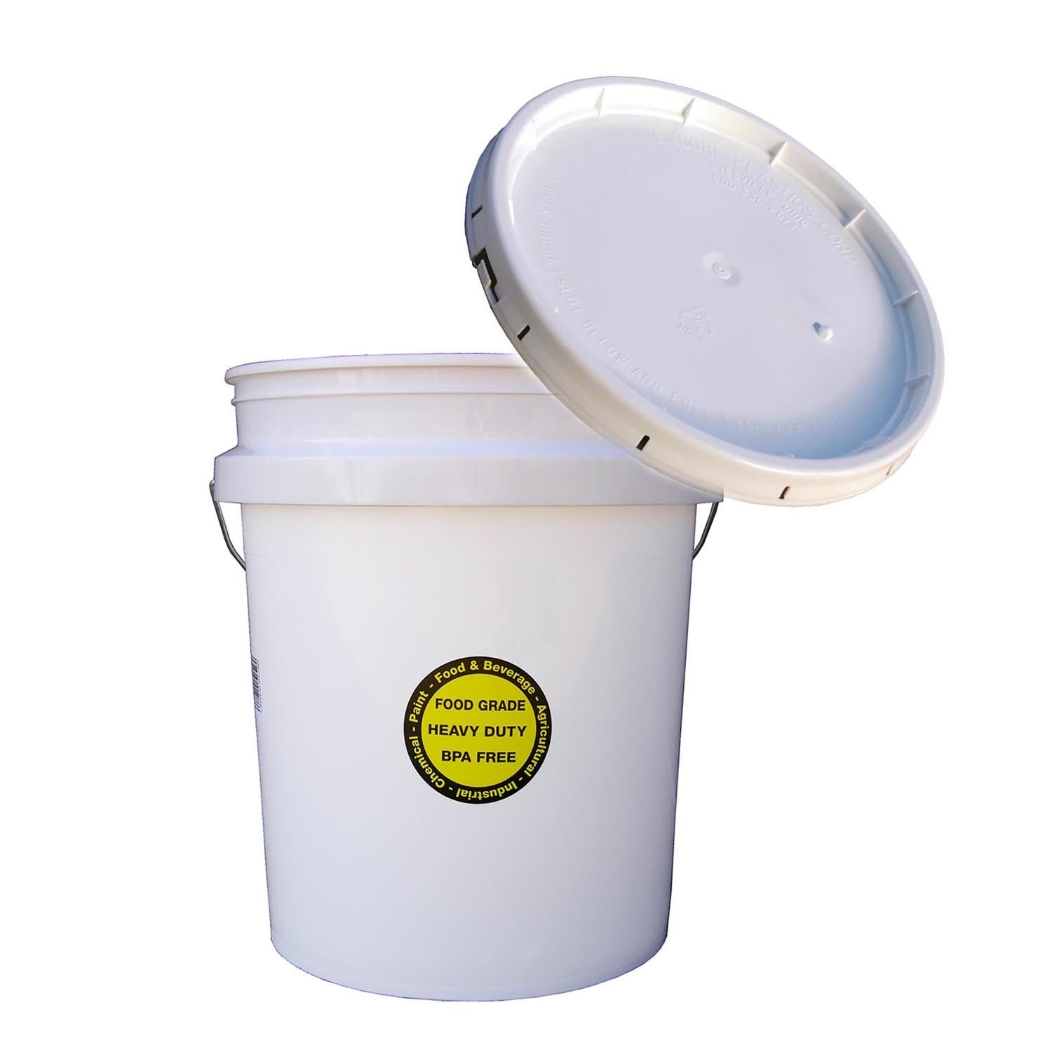 COMMERCIAL PLASTIC BUCKET LID 5 Gallon All Purpose Food Grade Paint Storage 1