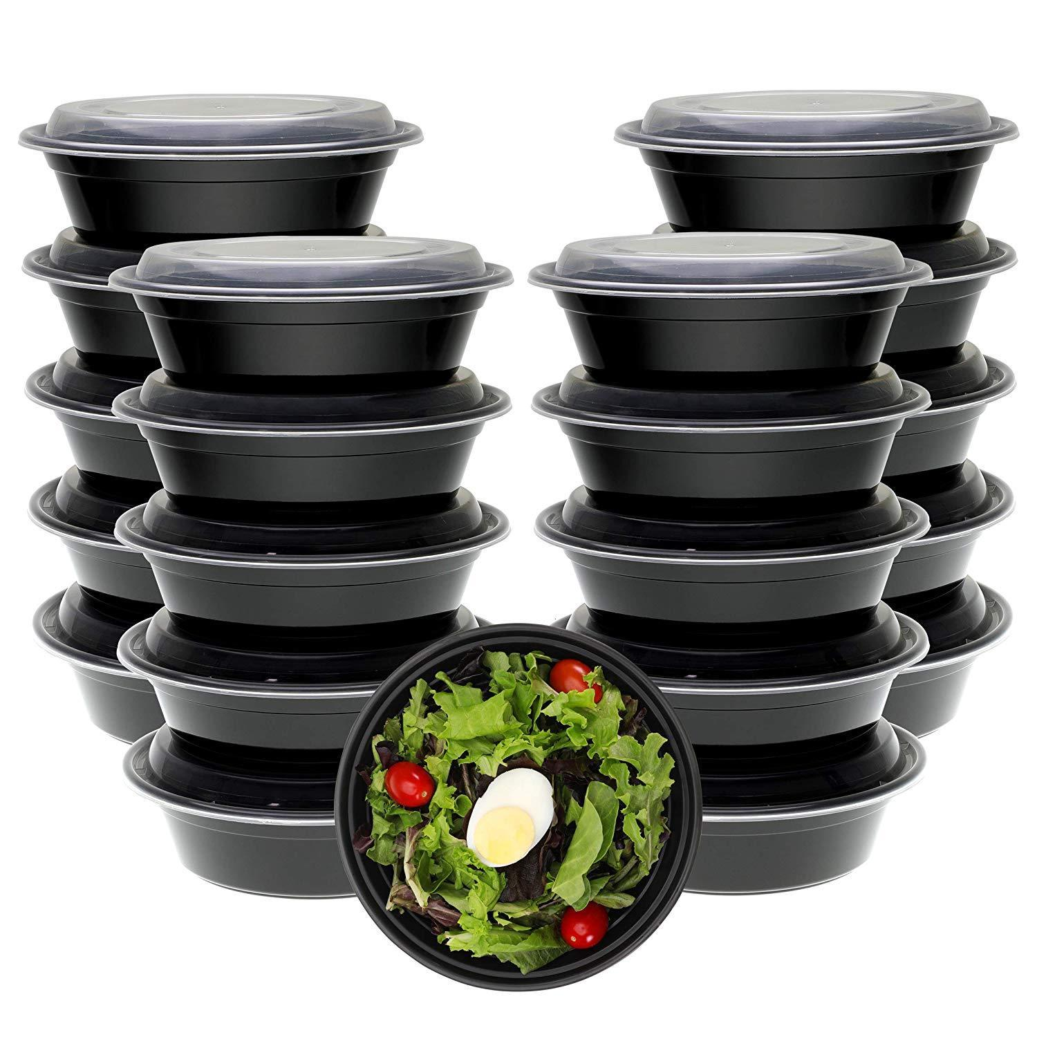 Freshware Meal Prep Containers [21 Pack] Bowls with Lids, Food Storage Bento Box 1