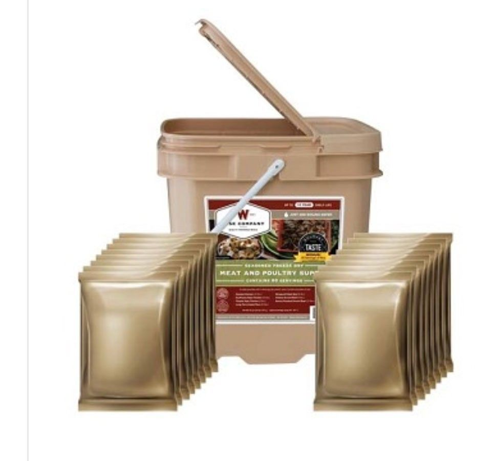 WISE FOOD STORAGE FREEZE DRIED MEAT PROTEIN BUCKET 60 serving SUPPLY FREE SHIP 1
