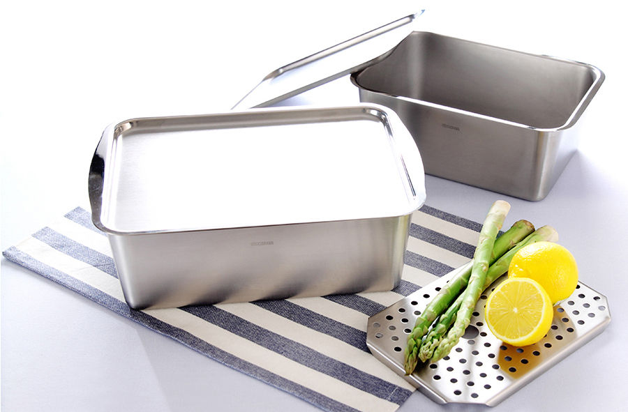 "Deep 3.9"" Gastronorm Food Storage Oven Cookware Stainless Steel Container Set 1"