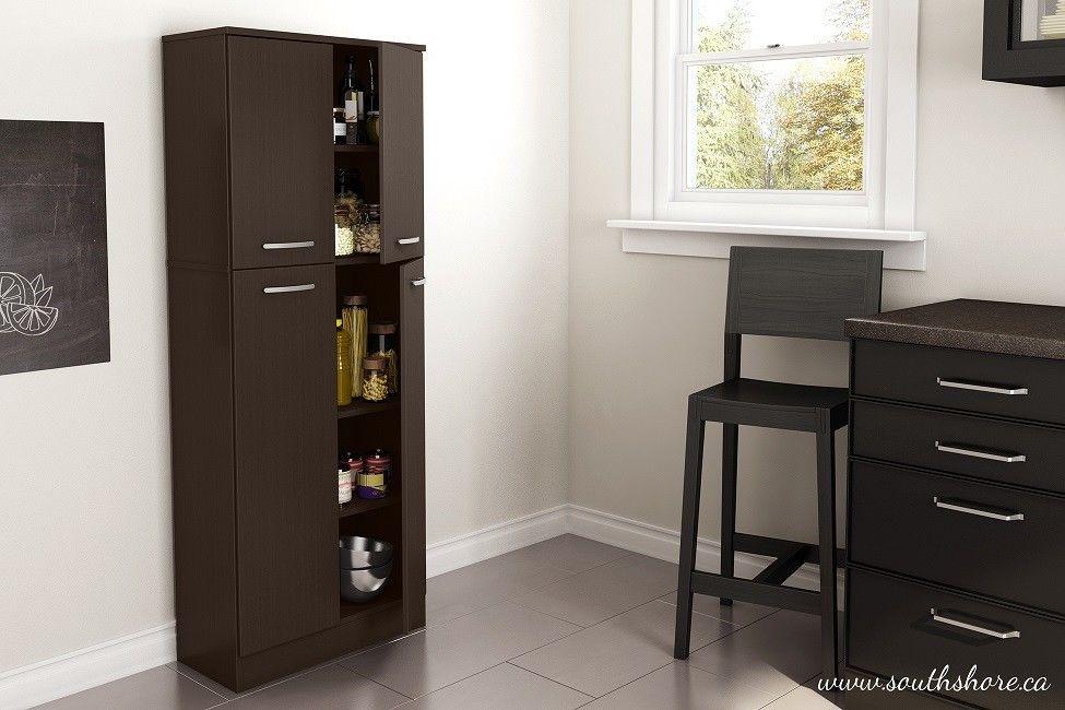 Kitchen Pantry Cabinet Utility Shelf Shelves Food Storage Space Garage 4 Door 1