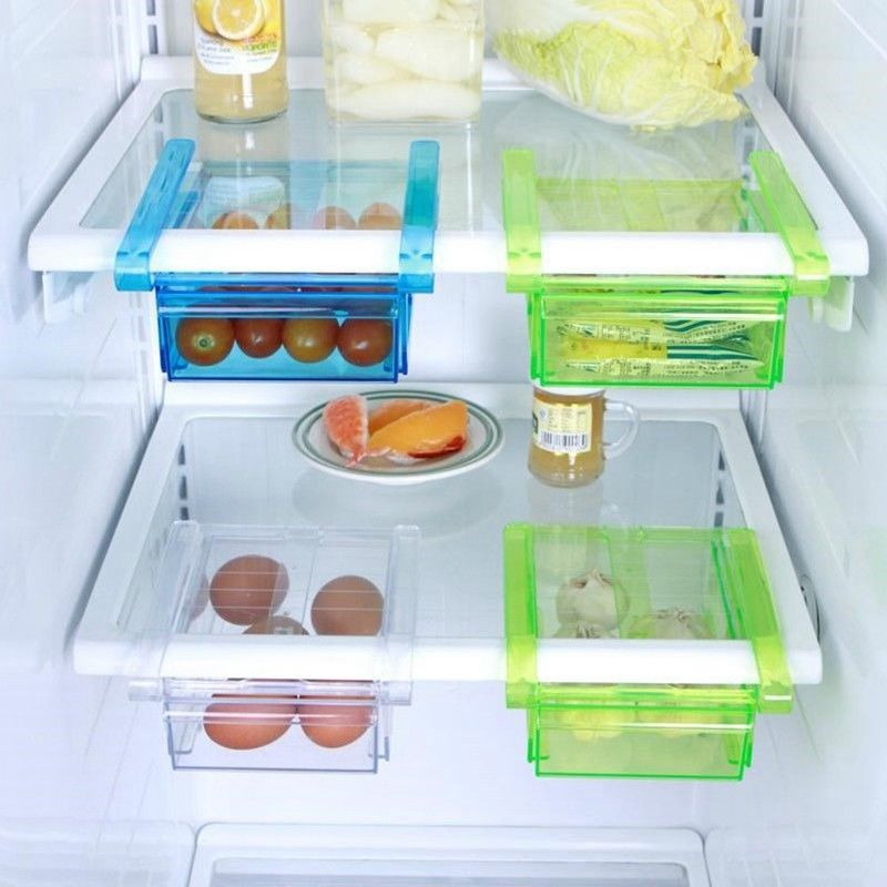 Refrigerator Storage Box Freezer Shelf Drawer Type Food Fresh Space Saver Holder 1