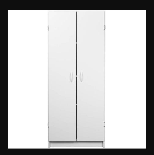 Food Pantry Storage White Kitchen Cabinet 2 Door Cupboard Organizer 4 Shelves 1