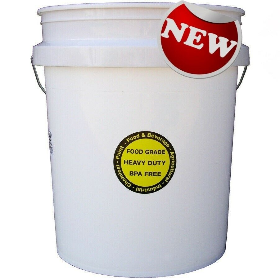 FOOD GRADE COMMERCIAL PLASTIC BUCKET 5 GALLON Durable all Purpose Paint Storage 1
