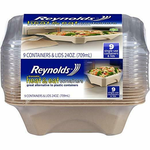 Reynolds 9ct 24oz Heat & Eat Disposable Food Storage Container 1