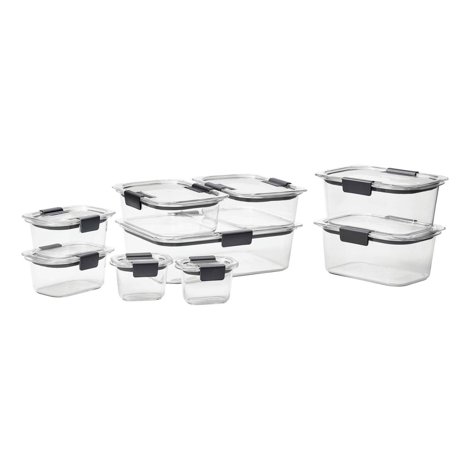 Rubbermaid Brilliance Food Storage Container Set, 18-piece, Clear 1