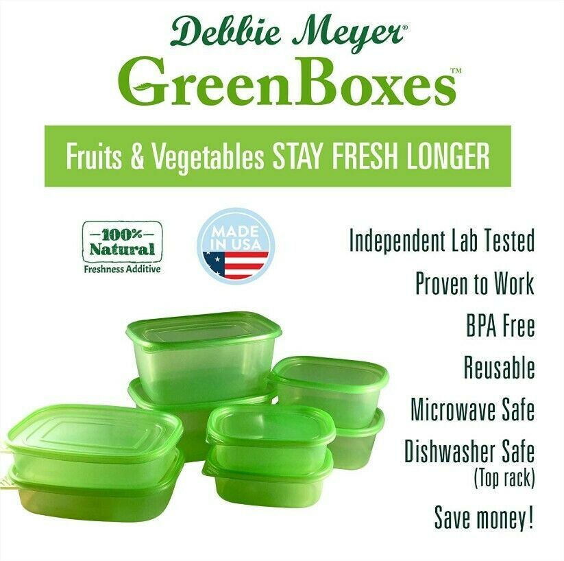 Debbie Meyer 5193541 Green Boxes Reusable Food Storage Containers 16-Piece Set.. 1