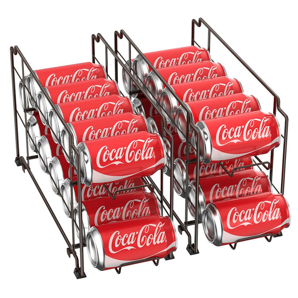Food Can Rack Holder Kitchen Pantry Organizer Soup Beer Soda Coke Storage Shelf 1