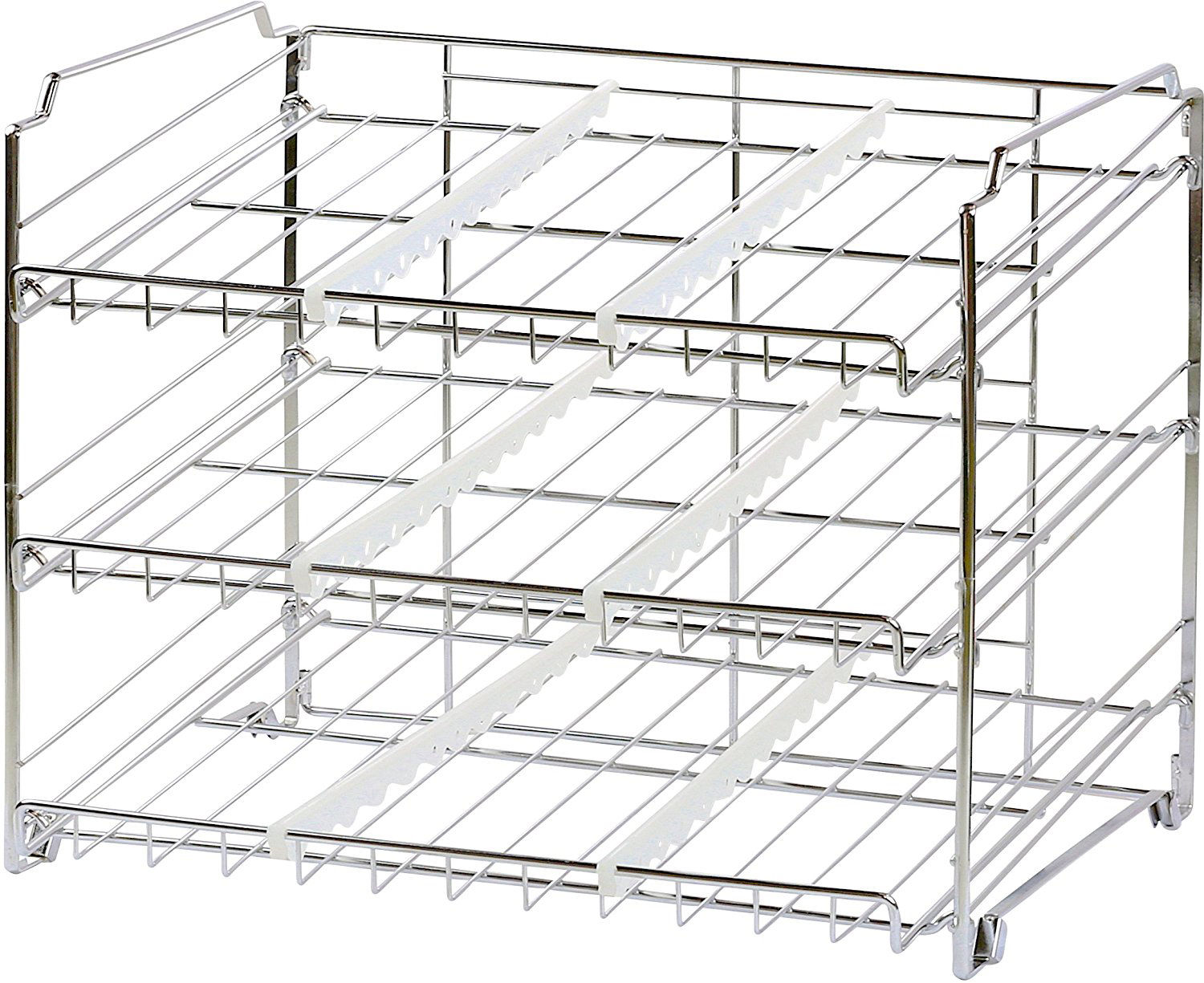 Kitchen Storage Can Rack Holder Canned Food Organizer Pantry Shelf Stand Display 1