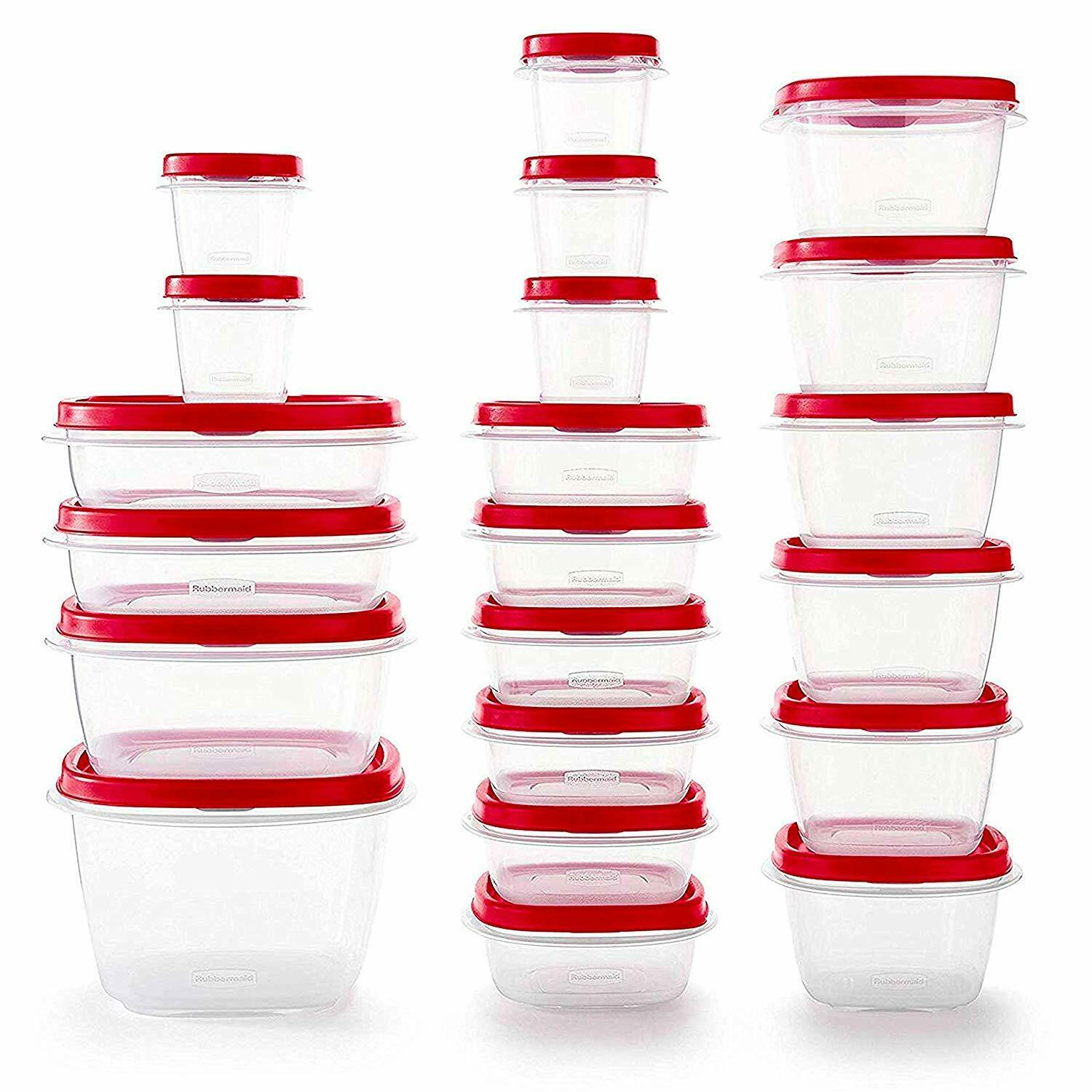 Rubbermaid 2063704 Easy Find Vented Lids Food Storage Container, 42pc New 1