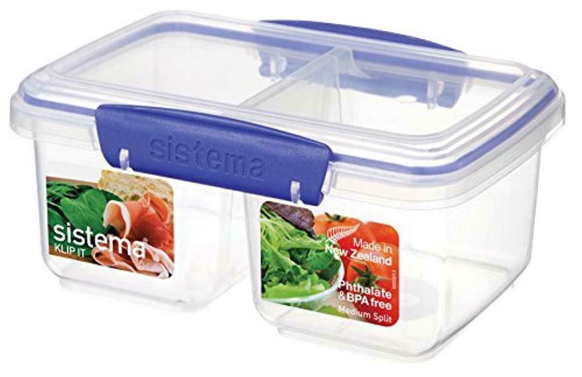 Sistema KLIP IT Rectangular Collection Split Food Storage Container, Medium New 1