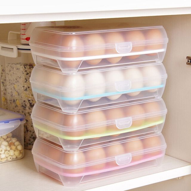 15 Eggs Holder Food Storage Container Plastic Refrigerator Egg Storage Box VUEC 4