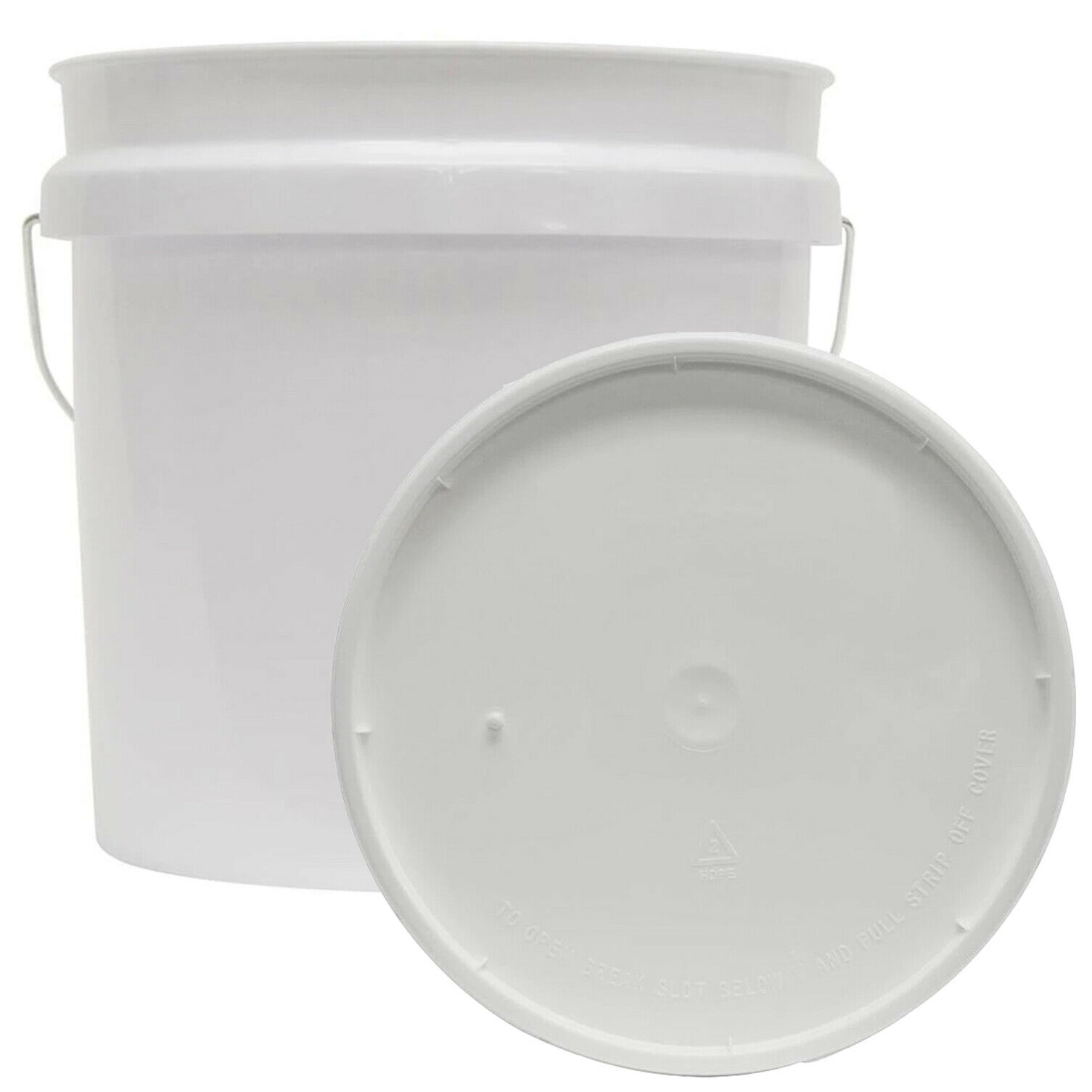 2 GALLON RESIDENTIAL BUCKET Food Grade BPA Free Plastic Storage Holder With Lid 1