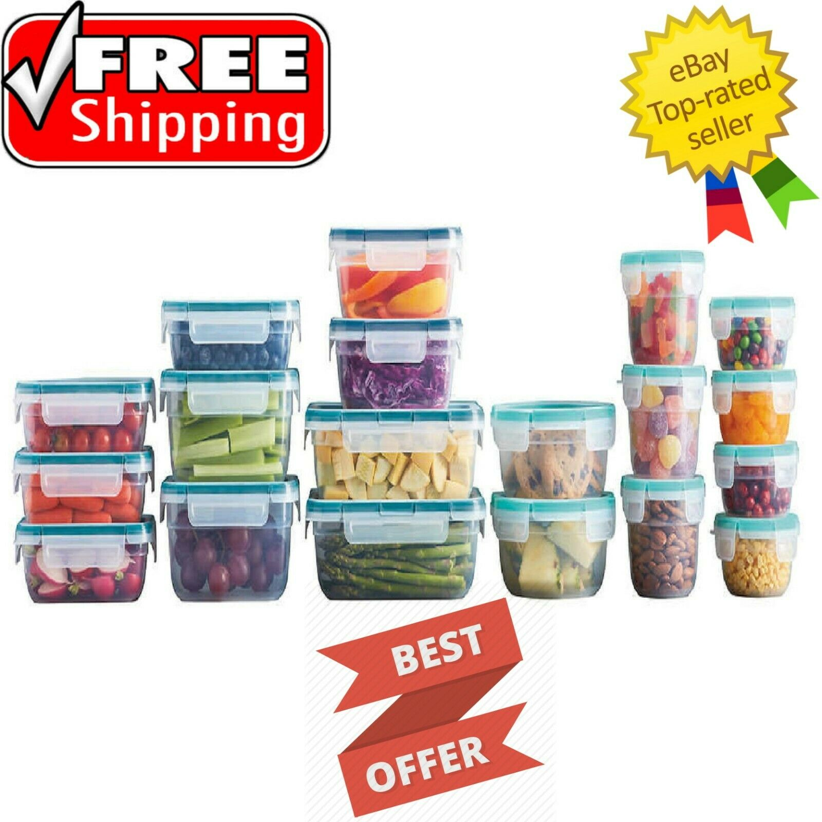 Snapware 38-Piece Plastic Food Storage Set - Free Shipping - Brand New 1