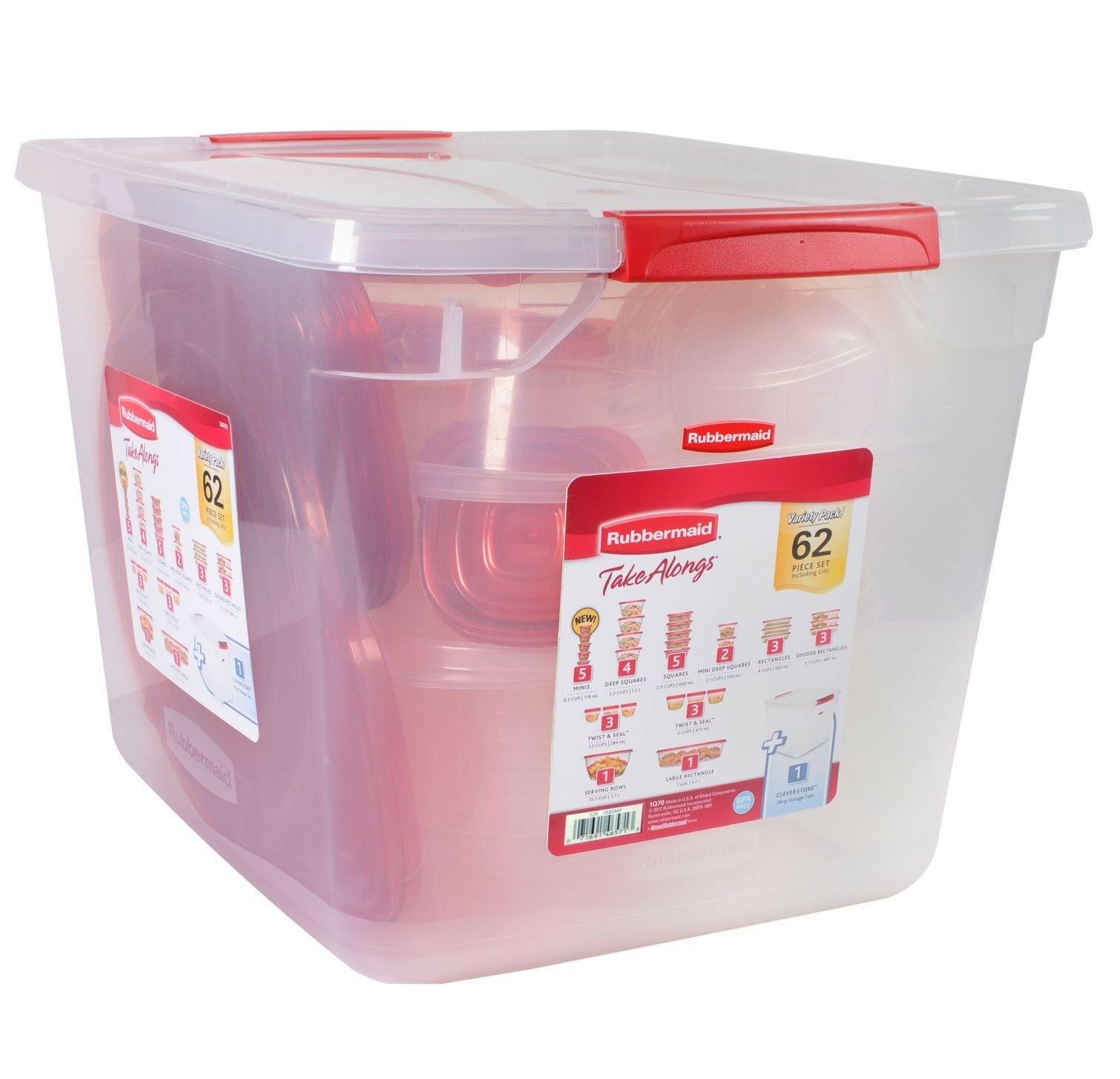 Rubbermaid 62-Piece TakeAlongs Food Storage Set Brand New 1