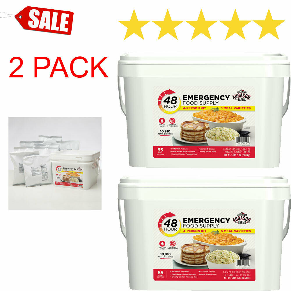 2PACK Emergency Food Supply 4 Person Kit 55 Serving Storage Survival Quick Meal 1