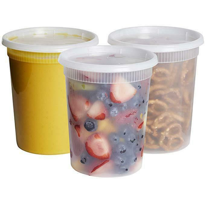 32 oz. Deli Food Storage Containers With Lids 1
