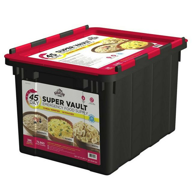 45 Day 1 Person Emergency Food Supply Storage Bucket Super Food Vault 9