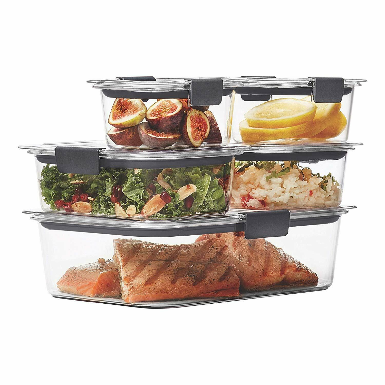 Rubbermaid Brilliance Leak-Proof Food Storage Containers with Airtight Lids Set5 1