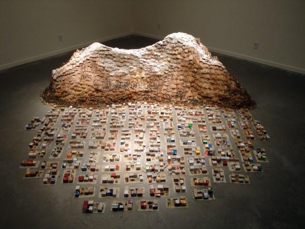 Rubbish Topographies installation view