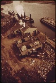 Docks at Fresh Kills. 05/1973. Photo by Chester Higgins.