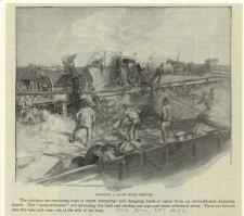 """Loading a Scow with Refuse."" 1897."