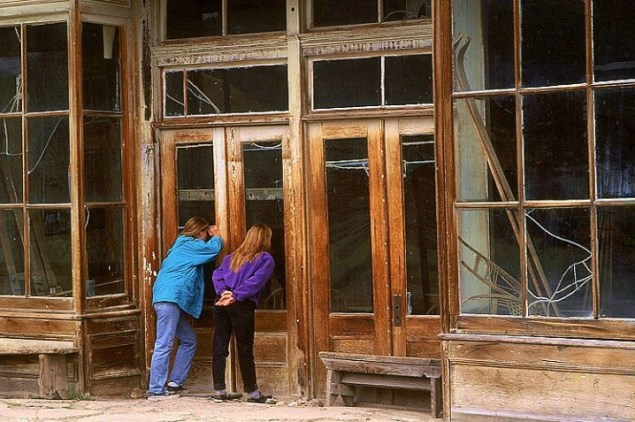 """Teen Girls at Bodie"" by artist Kerry Drager, 2004."