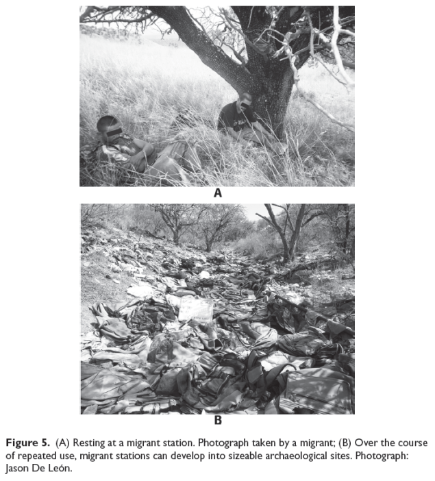 "Image from DeLeon's ""Undocumented migration, use wear, and the materiality of habitual suffering in the Sonoran Desert"" Material Culture 18(4)."