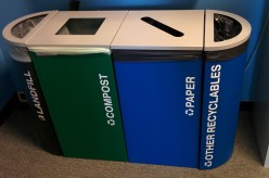 Waste bins in Berkeley, CA. Photo by the author.