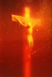 Andres Serrano, Piss Christ, photograph, 1987.